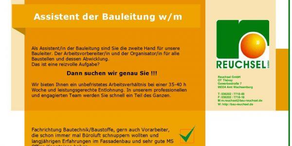 Assistenz der Bauleitung - Reuchsel GmbH