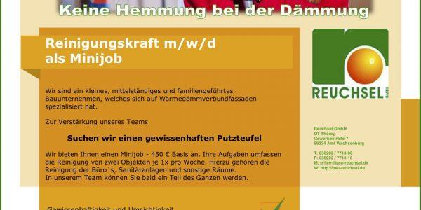 Flyer Reinigungskraft - Reuchsel GmbH